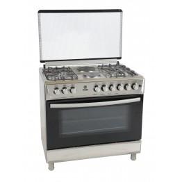 Mika Standing Cooker, 90cm X 60cm, 4 + 2, Electric Oven, Half Inox
