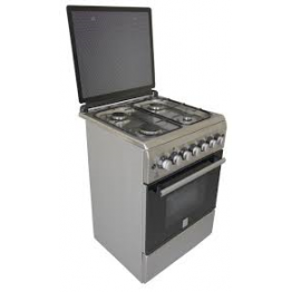 Mika Standing Cooker, 60cm X 60cm, 4GB, Electric Oven, Half Inox