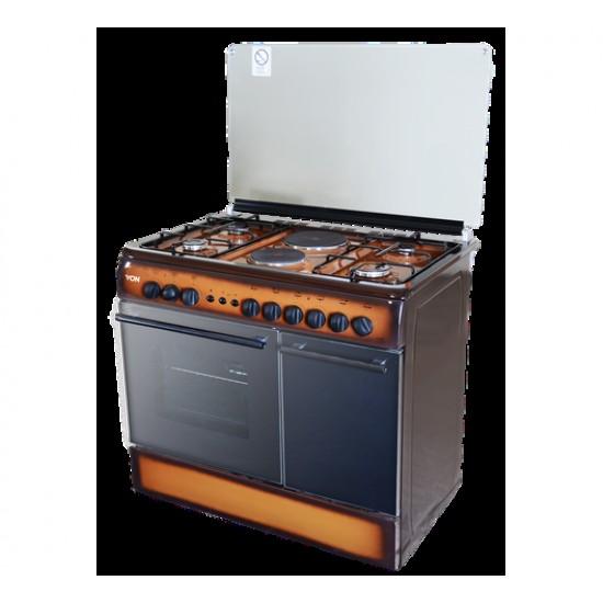 Von 4 Gas + 2 Electric Cooker TDF Dark VAC9S042CD