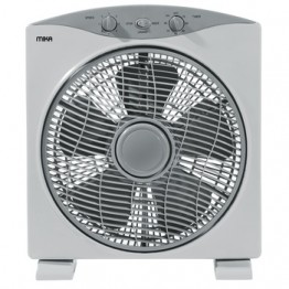 "Mika Box Fan, 12"", Square, Light & Dark Grey"