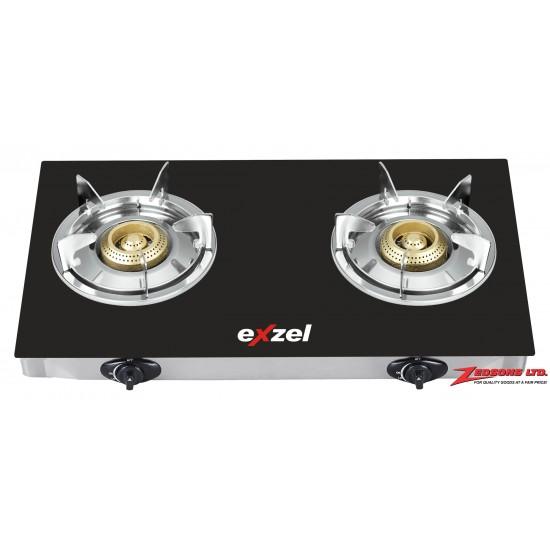 Exzel Glass Top Two Burner EG8210