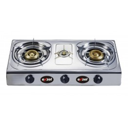 Exzel Gas Stove 3 Burner - Stainless Steel