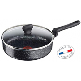 Tefal RIGINS STONE EFFECT SAUTE PAN+ Lid