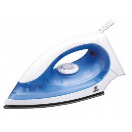 Dry Iron, Non-Stick Soleplate, White & Blue