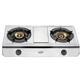 Mika 2 Burner Stainless steel Gas Stove