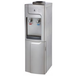 Water Dispenser, Standing, Hot & Cold. Compressor cooling, Silver & Grey