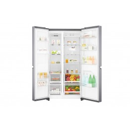 GC-B247SLUV 668L/23.59 ft³ Side by Side Fridge - Platinum Silver