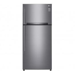LG GN-F702HLHU Refrigerator, Top Mount Freezer, 546L – Silver