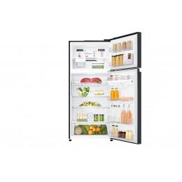 LG GN-C702SGGU Refrigerator, Top Mount Freezer, 506L - Black Glass