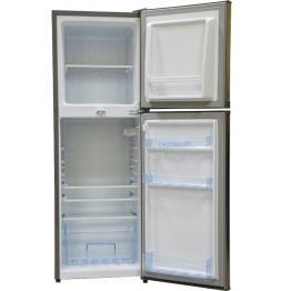Mika Refrigerator, 138L, Direct Cool, Double Door, Dark Silver