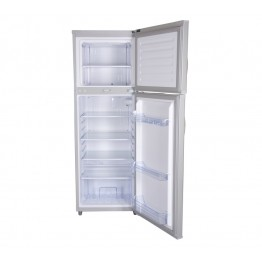 Mika Refrigerator, 168L, Direct Cool, Double Door, Silver Brush