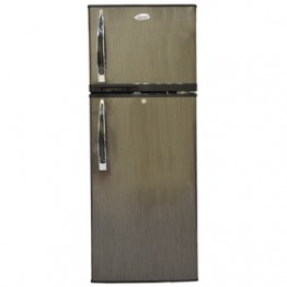 Mika Refrigerator, 138L, Direct Cool, Double Door, Black Brush
