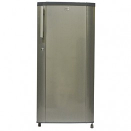 Mika Refrigerator, 190L, Direct Cool, Single Door, Hairline Silver