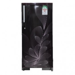 Mika Refrigerator, 190L, Direct Cool, Single Door, Red Ornate