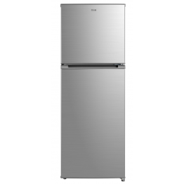 MIKA Refrigerator, 239L, No Frost, Double Door, Stainless Steel