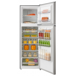 Mika Refrigerator, 268L, No Frost, Double Door, Stainless Steel