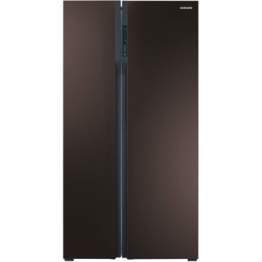Samsung Side-by-Side Fridge, 540L, Wine Mirror Finish