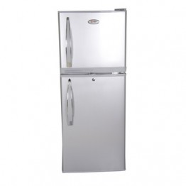 Mika Refrigerator, 108L, Direct Cool, Double Door, Silver Brush