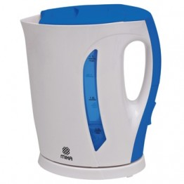 Mika Kettle (Electric), Plastic, 1.7L, Cordless, White & Blue