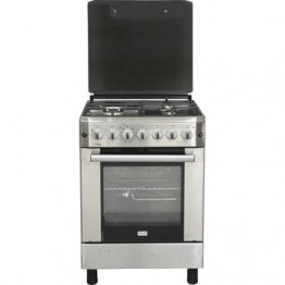Mika Standing Cooker, 60cm X 60cm, 3 + 1, Electric Fan Convection Oven, Half Inox