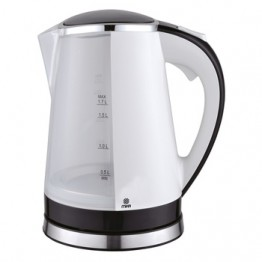 Mika Kettle (Electric), Plastic, 1.7L, Cordless, White & Black