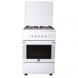 Mika Standing Cooker, 50cm X 55cm, 4GB, Gas Oven, White