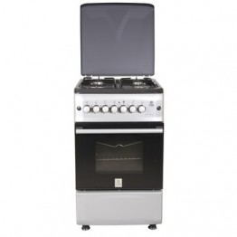 Mika Standing Cooker, 50cm X 55cm, 4GB, Gas Oven, Metalic Silver