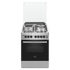 Exzel Stainless Steel, 3 Gas + 1 Electric, Electric Oven