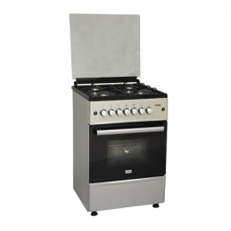 Mika Standing Cooker, 60cm X 60cm, All Gas, Gas Oven, Silver