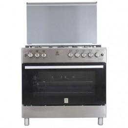 Mika Standing Cooker, 90cm X 60cm, 5GB, Electric Oven, Half Inox