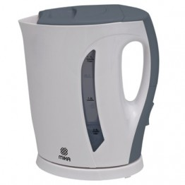 Mika Kettle (Electric), Plastic, 1.7L, Cordless, White & Grey