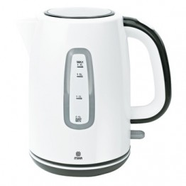 Mika Kettle (Electric), Plastic, 1.7L, Cordless, Off white & Black