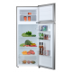 MIKA Refrigerator, 201L, Direct Cool, Double Door, Stainless Steel