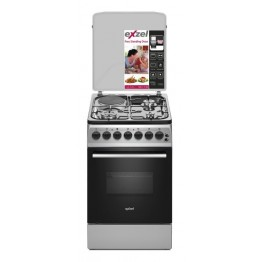 Exzel 60x50cm, 3 Gas+1 Electric, Electric Oven