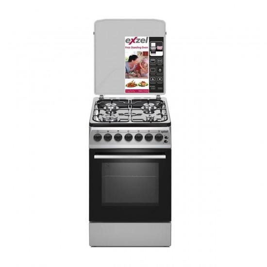 Exzel 60x50cm 4 Gas, Gas Oven