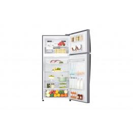 Gross 437(L) Net 410(L) Top Freezer Refrigerator, Platinum Silver   LINEAR Cooling™   Hygiene Fresh+   Smart ThinQ™