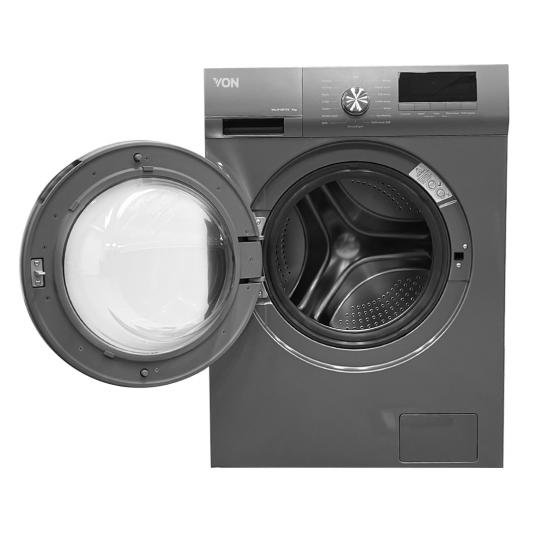 Von Front Load Washing Machine Silver VALW-09FXS