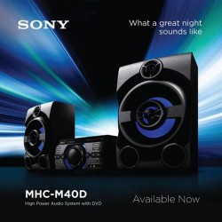 Sony HI-FI AUDIO SYSTEM, CLEAR AUDIO+, KARAOKE MHC-M40D