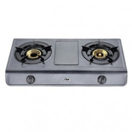 Mika Gas Stove, Table Top, Teflon, 2 Burner