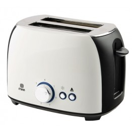 Mika Toaster, 2 Slice, 800w, White & Black
