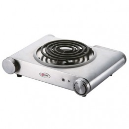 Mika Hot Plate, Single, 1500W, Stainless steel