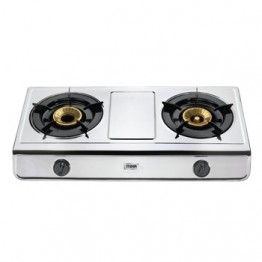 Mika Gas Stove Table Top Stainless steel 2 Burner