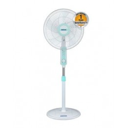 "Bruhm BSF 40W - 16"" - Free Standing Fan - 3 Speed - Blue & White"