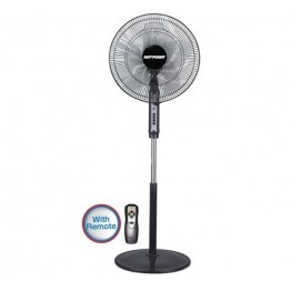 "Hotpoint HFS662B 16"" Floor Standing Fan - Remote - Black"