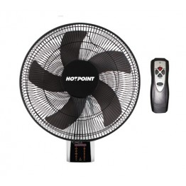 Von Hotpoint HFW661B Wall Fan with remote - Black
