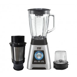 Von Hotpoint HB392HX Blender with Mill, 1000W, Glass Jar, Stainless Steel