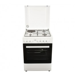 Von Hotpoint 3 Gas + 1 Electric Cooker White