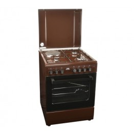 Von Hotpoint 3 Gas + 1 Electric Cooker Dark Brown