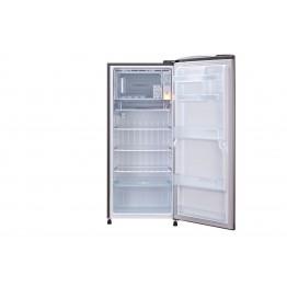 Gross 190(L) Net 180(L) One Door Refrigerator, Shiny Steel   Inverter Compressor  Tempered Glass Shelves   Moist Balance Crisper