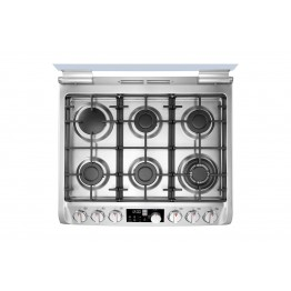 6 Gas Burners - Stainless Steel